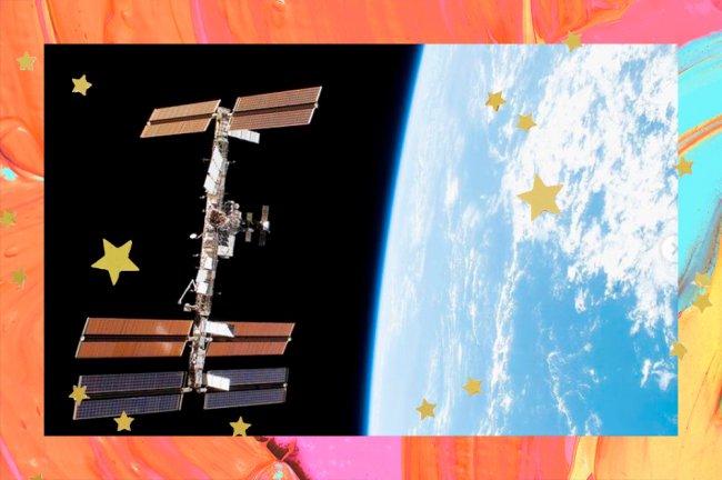 Imagem da Estação Espacial Internacional vista do espaço