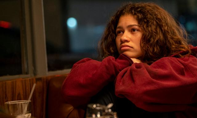 Zendaya como Rue em Euphoria