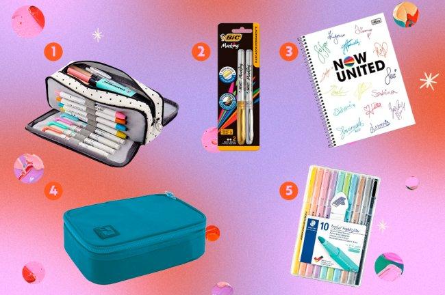 15 itens de papelaria de até R$ 65 que não podem faltar na sua mochila