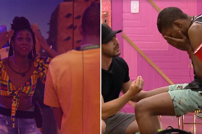BBB21: Festa Herança Africana acaba em briga entre Lucas Penteado e Camilla de Lucas