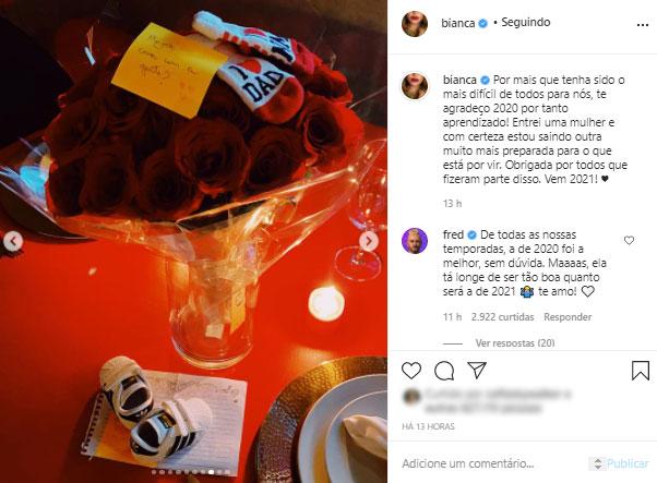 Post de Bianca Andrade mostra bilhete com pedido de casamento