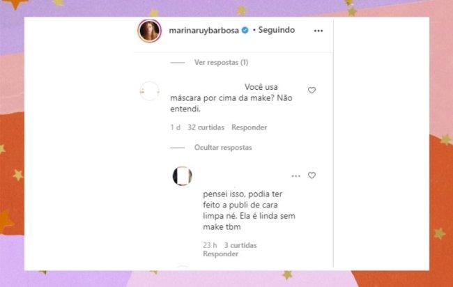 Seguidores questionam Marina Ruy Barbosa