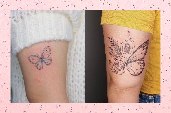 21 tatuagens de borboleta para se inspirar