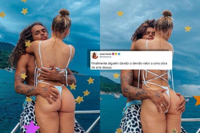 Vitão tatua bumbum de Luísa Sonza na coxa: