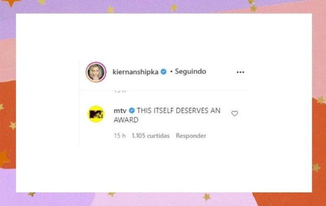 MTV deixou comentário divertido sobre a produção de Kiernan