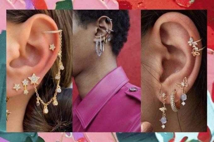 Ideias de piercings para orelha