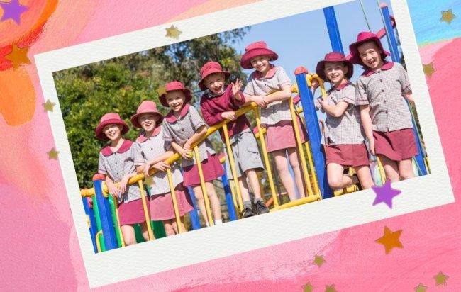 Crianças de uniforme na Austrália