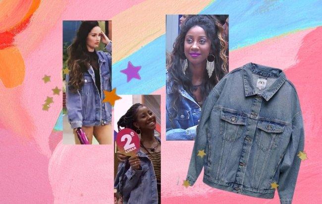 Juliette com a jaqueta jeans oversized da Camilla de Lucas