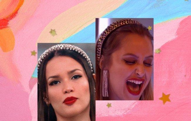 Juliette com a tiara da Carla