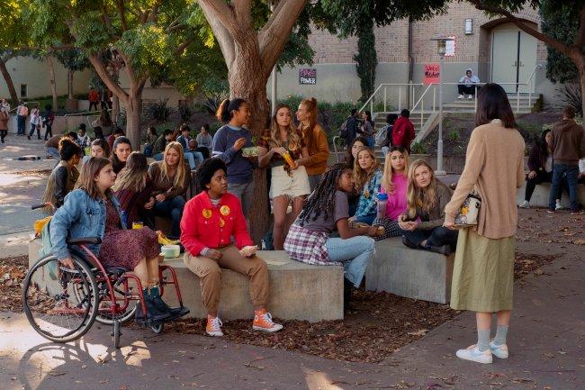 Garotas reunidas no filme Moxie