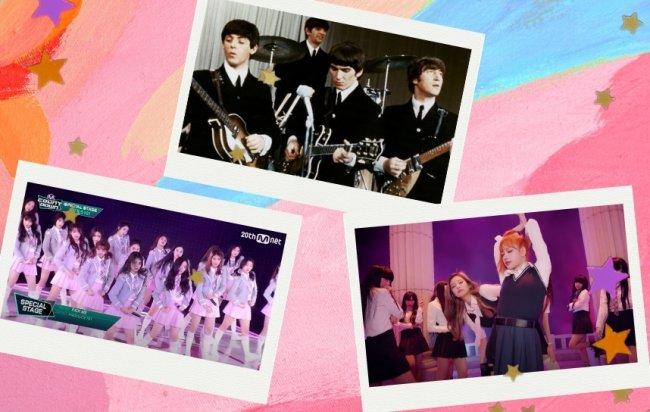 Reality Produce 101, Beatles e Blackpink são referência no uso de uniformes no mundo da Música