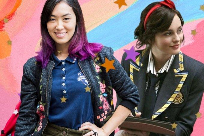 Os uniformes escolares na ficção