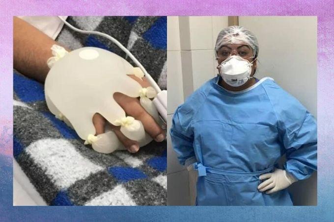 Enfermeira cria técnica que ajuda a tranquilar pacientes com Covid-19