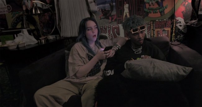 Billie Eilish e o rapper 7:AMP
