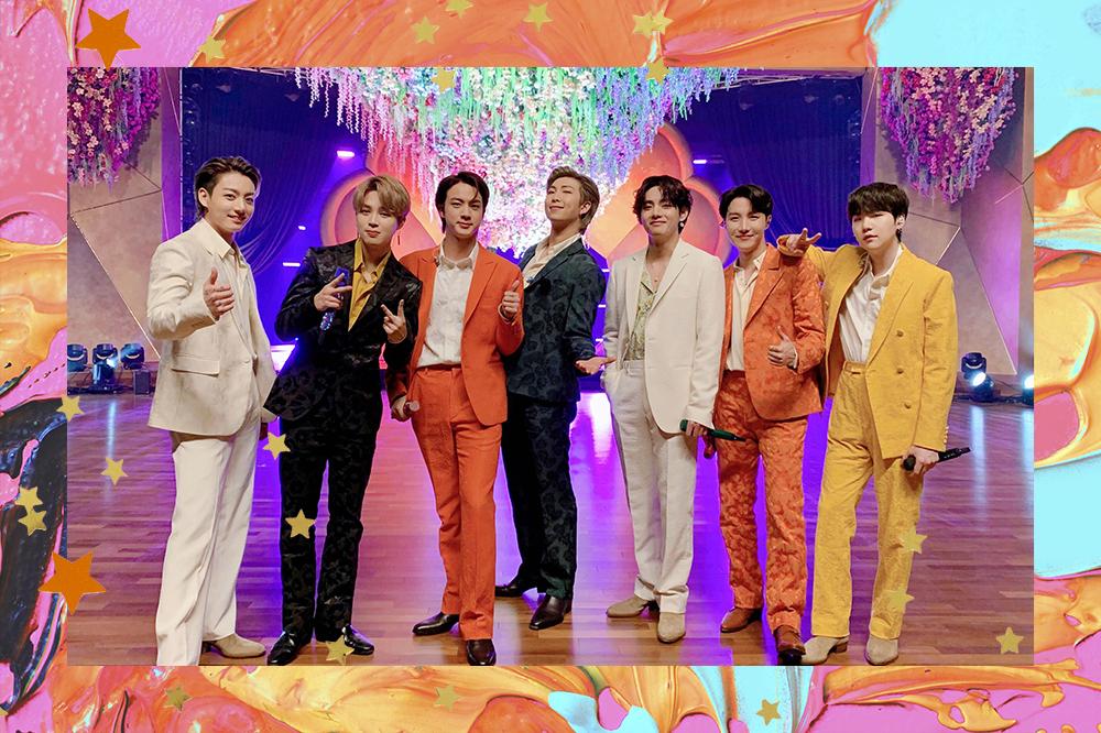 integrantes do grupo BTS