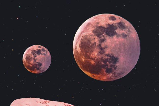 ilustração de luas e planetas horóscopo