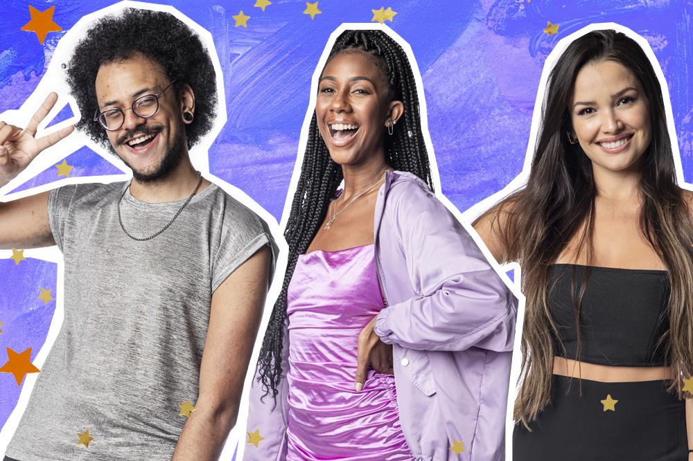 João Luiz, Camilla de Lucas e Juliette no BBB21