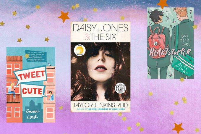 livros em inles tweet cute daisy jones e heartstopper