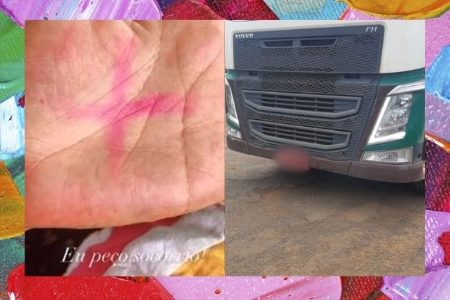 Pedido de socorro nas redes salva mulher feita de réfem em caminhão