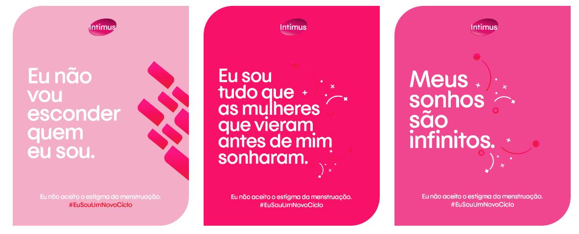 cards da campanha #EuSouUmNovoCiclo
