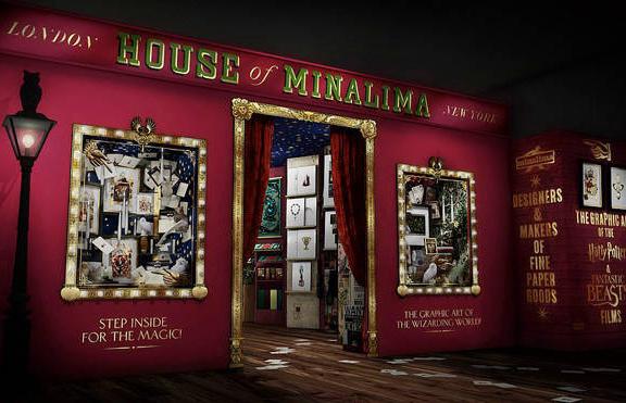 Um dos espaços da nova loja de Harry Potter, com reprodução na House of Minalima, loja rosa em Londres que mostra os designers da produção