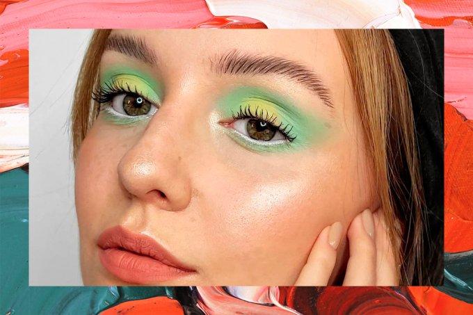 maquiagem-sombra-verde-tendencia