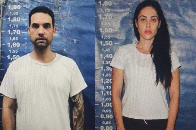 Dr. Jairinho e Monique, acusados de matar o menino Henry, posam em retrato policial