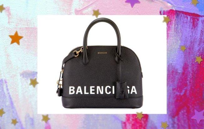 Bolsa Balenciaga modelo XXS Top Handle Bag em couro preta.