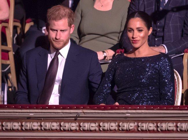 Píncipe Harry e Meghan Markle durante evento no Royal Albert Hall