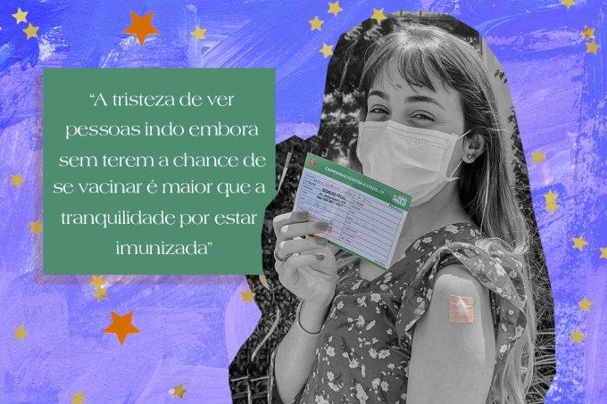 Jovem brasileira conta sensação de já ter tomado a vacina contra a Covid