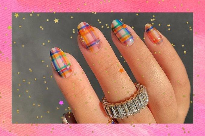 nail art xadrez
