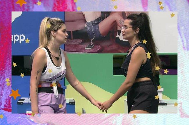 Viih Tube e Juliette apertando as mãos no BBB21