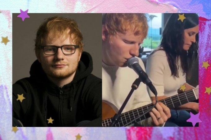 Ed Sheeran e Courteney