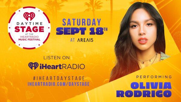 Anuncio do show de Olivia Rodrigo no iHeartRadio Music Festival