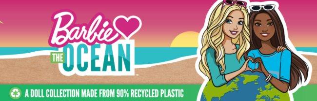 Logo da campanha da Barbie Loves The Ocean