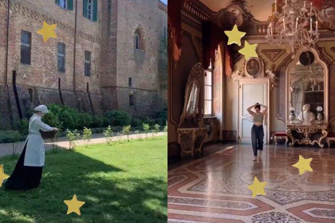 Italiana compartilha diário no TikTok mostrando como é morar em um castelo