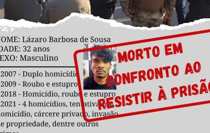 125 tiros: boletim policial conta detalhes de confronto com Lázaro Barbosa