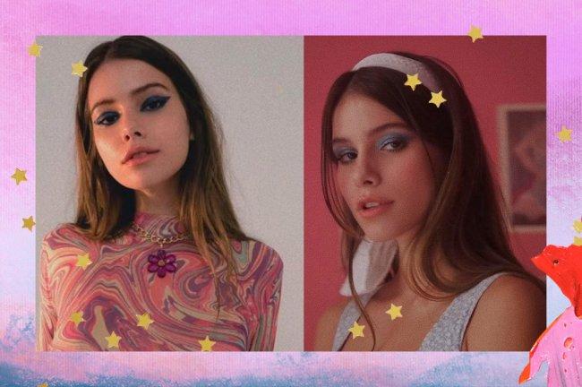 Colagem com duas imagens da cantora Clarissa Müller