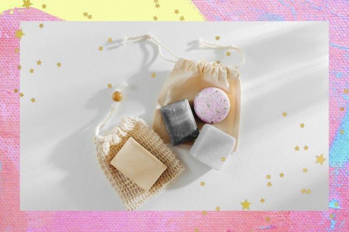 shampoo e condicionador em barra