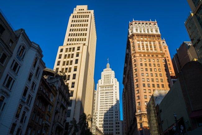 Edifícios históricos no centro de São Paulo