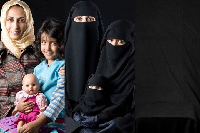 Artista relata o desaparecimento de mulheres muçulmanas em fotos