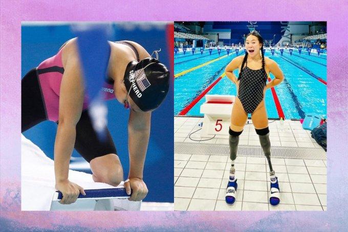 Nadadora paralímpica teve pernas amputadas após sobreviver a uma bomba quando bebê