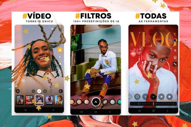 Interface do aplicativo de edição de fotos Prequel