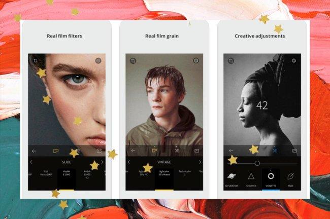 Interface do aplicativo de edições RNI Filmes