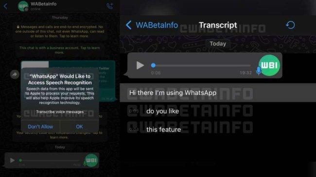 Duas telas de conversa no Whatsapp
