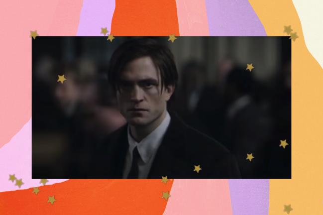 Trecho do trailer de The Batman com Robert Pattinson aparecendo com uma expressão séria.
