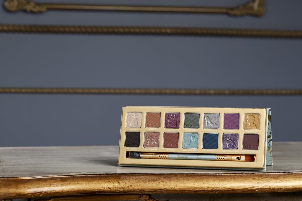 Paleta de sombras da coleção de maquiagem inspirada na Cinderela da Sigma Beauty