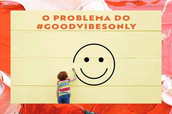 Colagem com imagem de um mural com pessoa desenhando um smile e frase