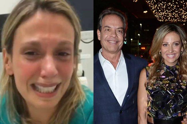 À esquerda, print da live de Luisa Mell, em que a ativista aparece abusivo, Gilberto