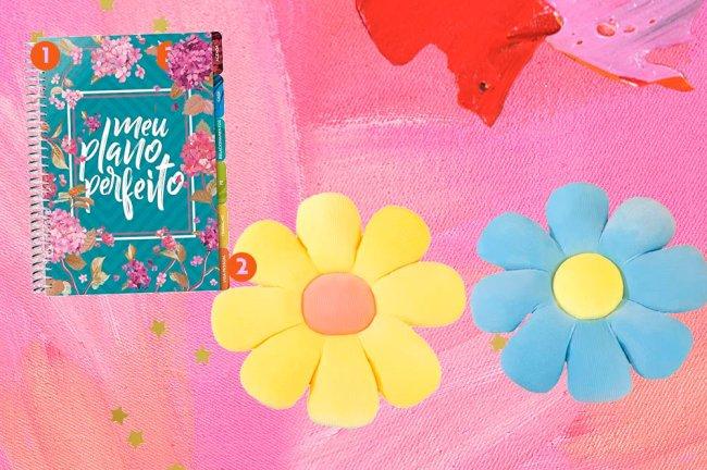 Colagem com produtos que remetem a primavera